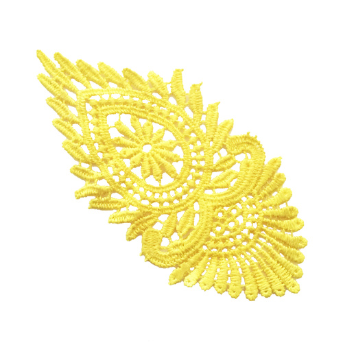 Guipure Lace Motif 07 - Yellow
