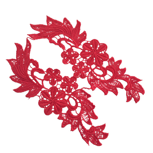 Guipure Lace Motif 28 - Red