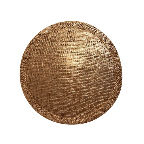 Sinamay Round Base - Metallic Gold