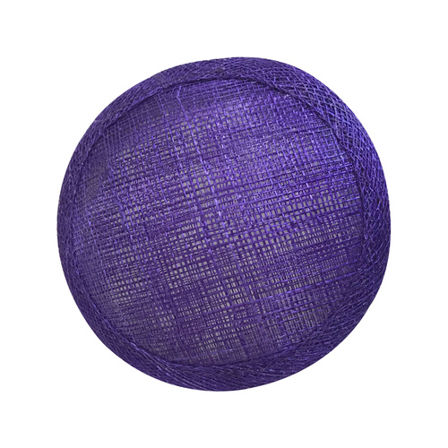 Sinamay Round Base - Purple
