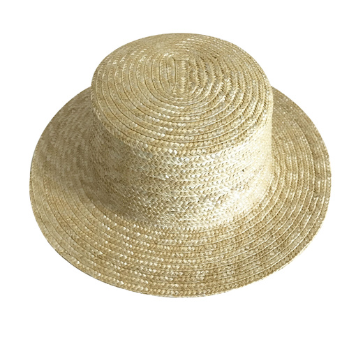 Boater Hat/Straw - Natural