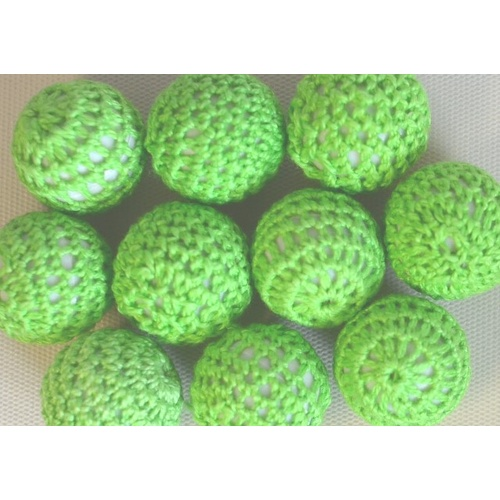 Crochet Bead - Lime