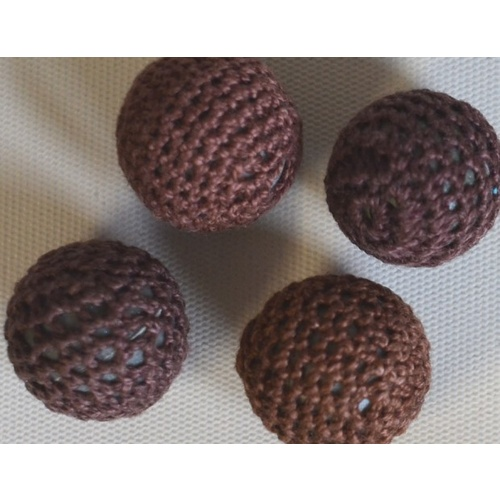 Crochet Bead - Chocolate