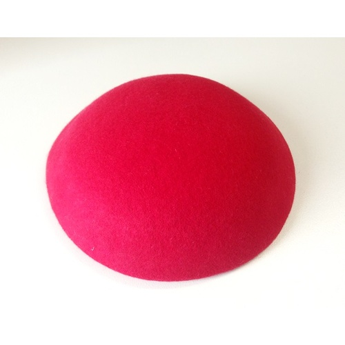 Wool Felt/Large Button - Red