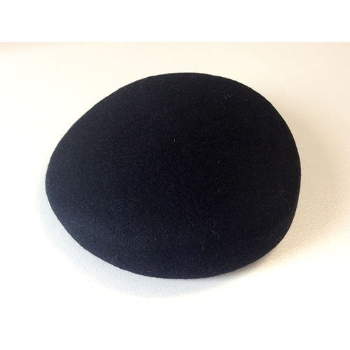Wool Felt/Pillbox - Black
