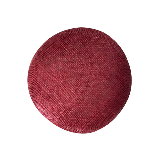 Sinamay Button - Burgundy (002)