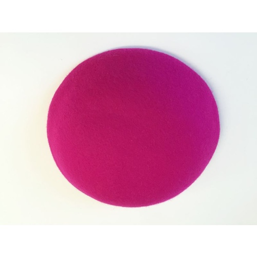 Wool Felt/Large Button - Fuchsia