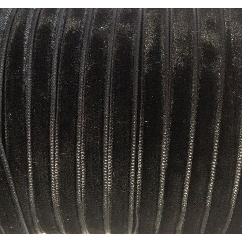 Velvet Ribbon 6mm (03) Black
