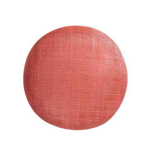 Sinamay Button - Coral (016)