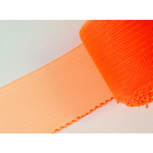 "4"" Plain Crin/per meter - (172) Neon Orange"