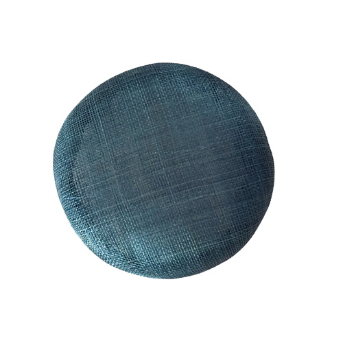 Sinamay Button - Teal (056)