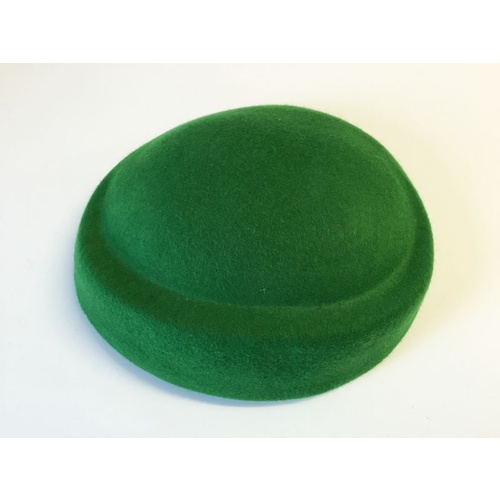 Wool Felt/Oval Pillbox - Green