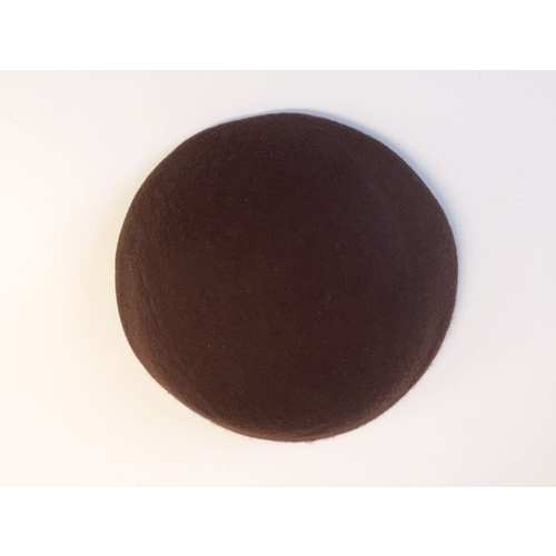 Wool Felt/Large Button - Chocolate