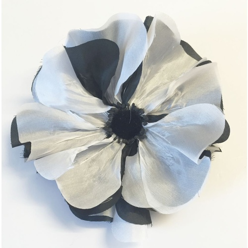 Silk Poppy -Black/White