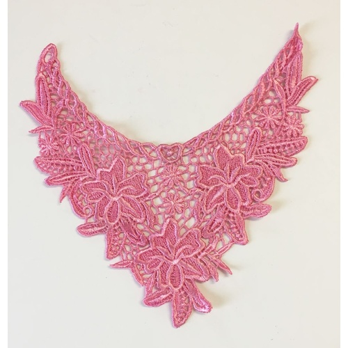 Guipure Lace Collar 06 - Pink