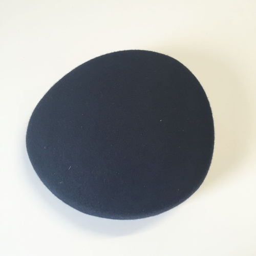 Wool Felt/Pillbox - Dark Navy