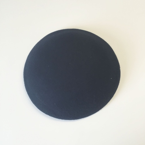 Wool Felt/Large Button - Dark Navy