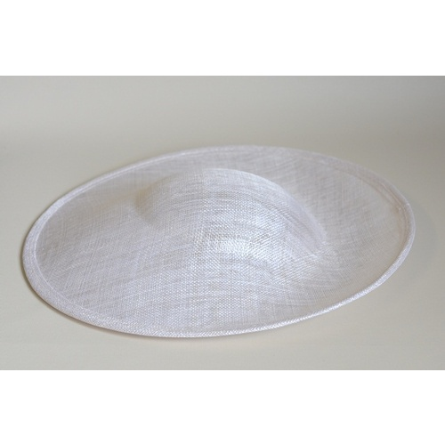 Sinamay Base/Saucer - White (069)